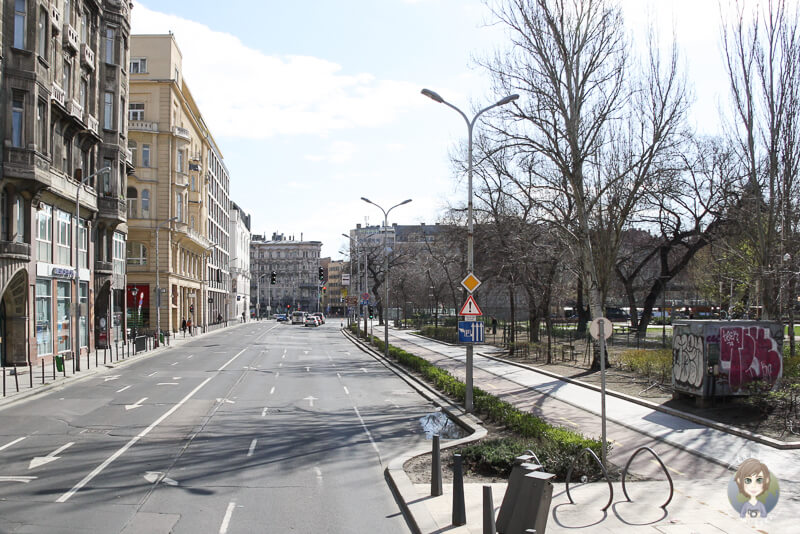 Hauptstraße in Pest