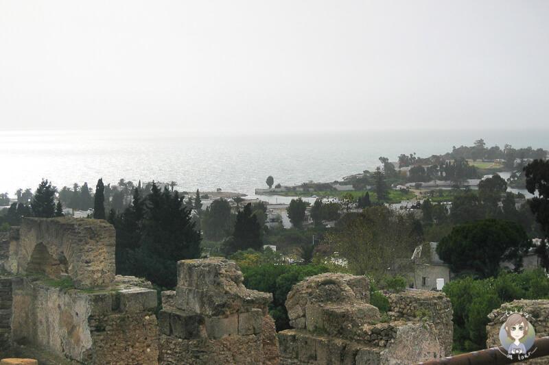 Blick auf den Golf von Tunis von Karthago