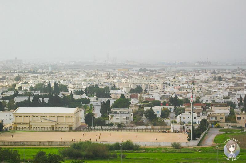 Aussicht auf Tunis von Karthago