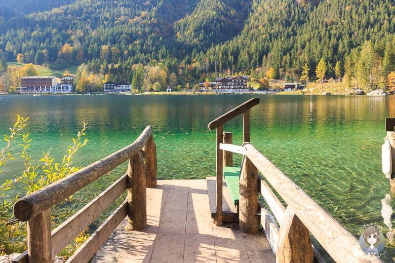 Anlegestelle für Ruderboote am Hintersee Nationalpark Berchtesgaden