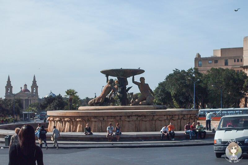 Brunnen Busbahnhof Valletta