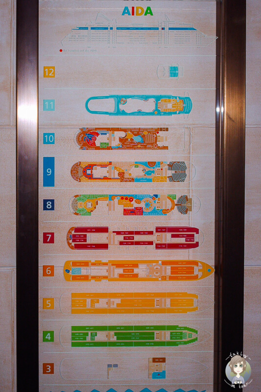 Deckplan der AIDAaura