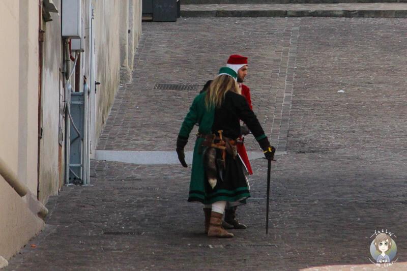 Duell am Platz in Conegliano
