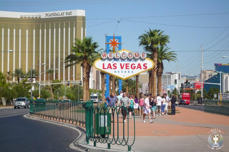 Las Vegas Schild am Ortseingang