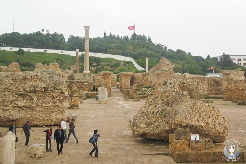 Fuehrung durch Karthago in Tunis zu Besuch an den Ruinen der Antonius Pius Thermen