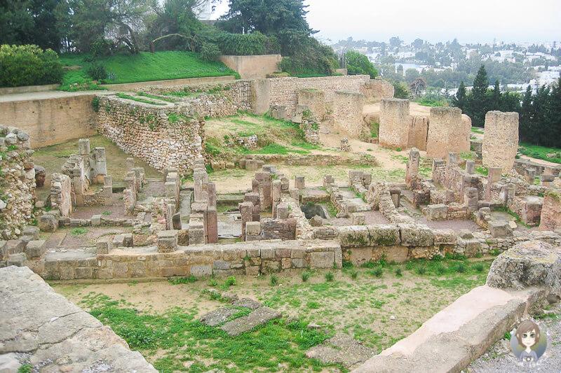 Die Ausgrabungsstätte von Karthago mit dem Ausflug der AIDA in Tunis