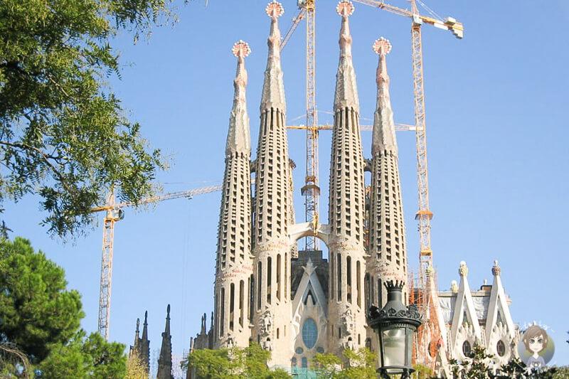 Blick auf die Sagrada Familia auf unserer Tour mit der AIDA in Barcelona
