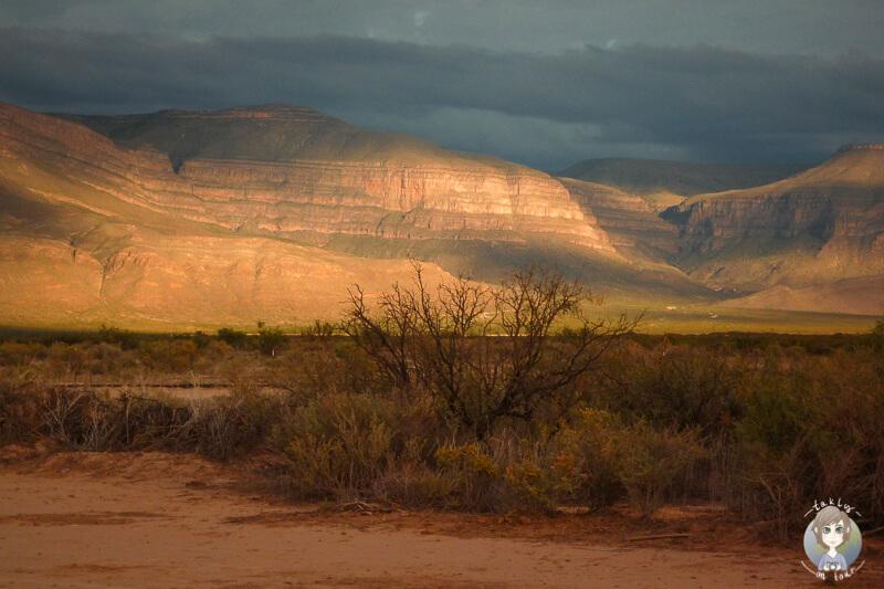 Sonnenuntergang in New Mexico in der Wueste