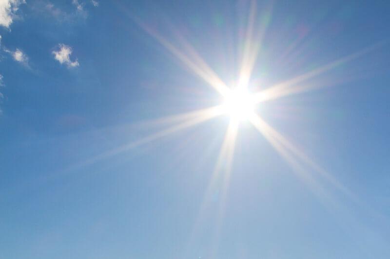 Ein sonniger Tag am Strand in Jesolo