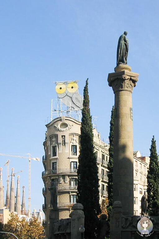 Strasse Richtung Sagrada Familia Barcelona