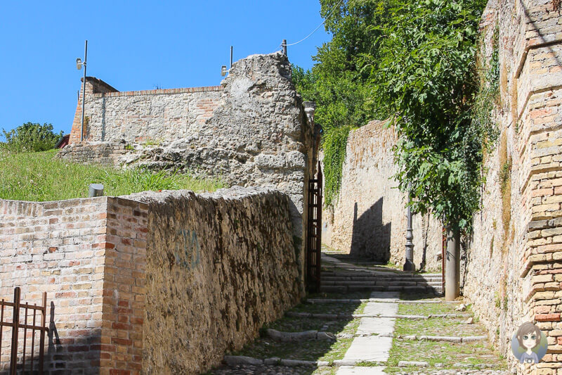 Start des Aufstiegs zum Castillo de Conegliano