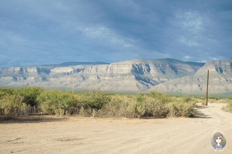 Ausblick auf Berge auf einer Ranch in New Mexico