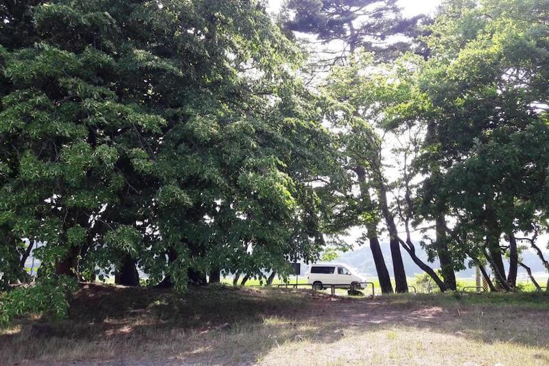 Camping in Japan in der Natur ist mit dem Campervan ab und zu möglich