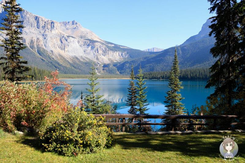Blick auf den Emerald Lake ein Teil der Uebersicht unserer Kanada Reisen auf dem Blog