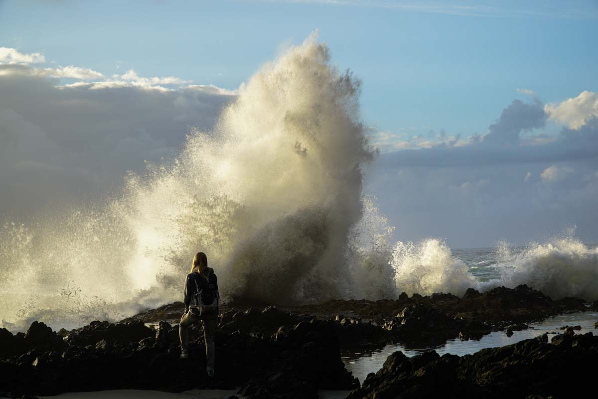Hohe Welle am Cape Perpetua in Oregon Westkueste USA <i>Foto: ©Nadine Laufhäger</i>