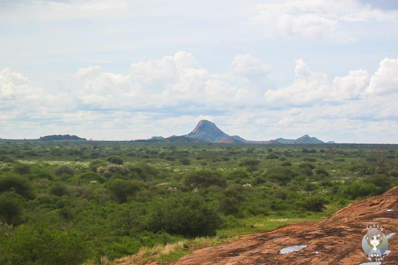 Aussichtspunkt im Tsavo West National Park auf unserer Kenia Safari