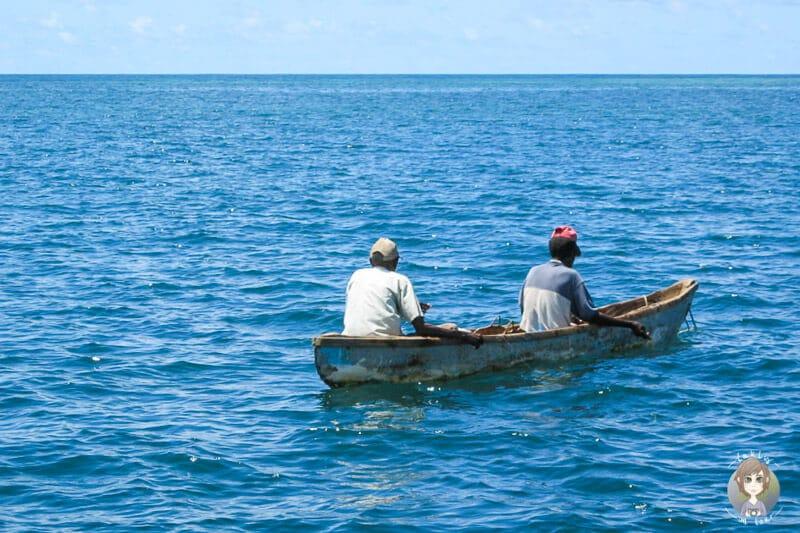 Ein Fischerboot in Mombasa
