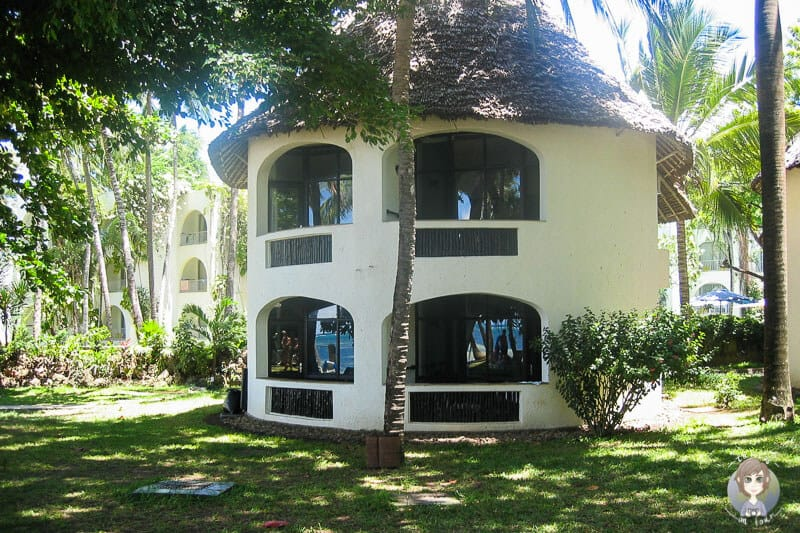 Ein Bungalow der Severin Sea Lodge in Kenia