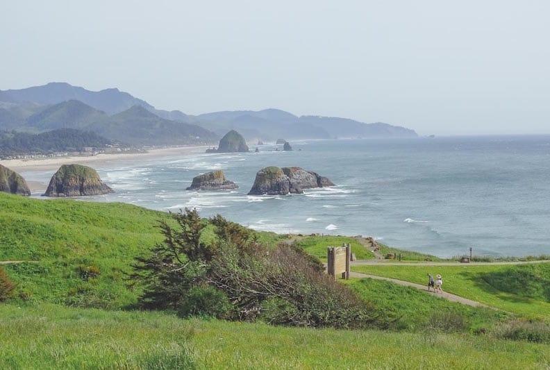 Ein Westküste USA Tipp: Der Ecola State Park mit Ausblick auf den Pazifik und Cannon Beach Foto: ©Mandy Decker