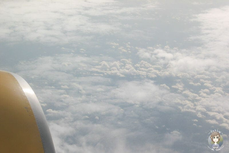 Blick aus dem Flugzeug auf dem Flug nach Mombasa Kenia