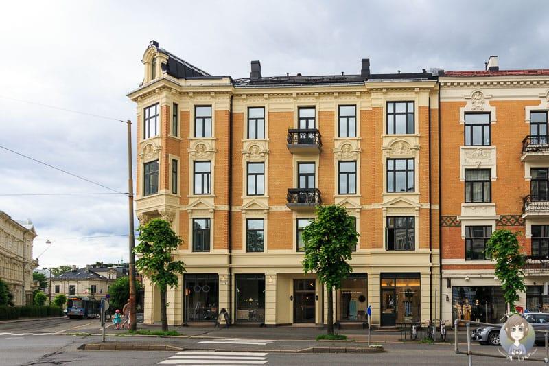 Ein farbenfrohes Haus in Oslo
