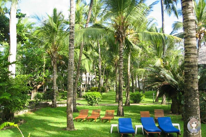 Der wunderschöne Hotelgarten