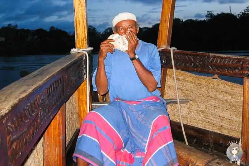 Musik im Sonnenuntergang in Mombasa