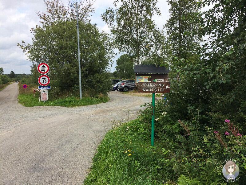 Parkplatz Nahtsief im Naturpark Eifel Hohes Venn