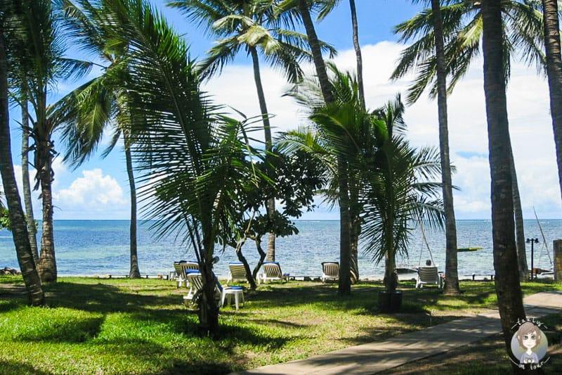 Der Weg vom Hotel zum Strand
