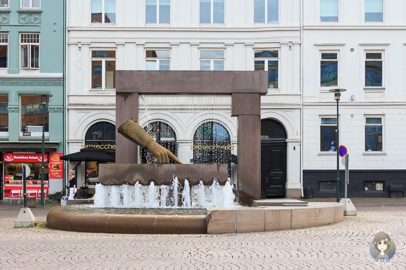 Ein sehenswerter Brunnen in Oslo