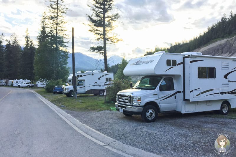Blick über einen der privaten Campingplätze in Kanada