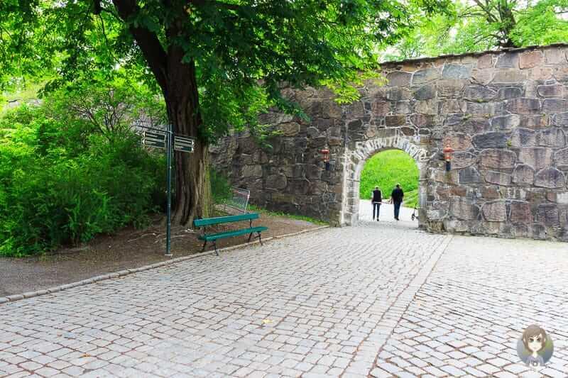 Durch das Tor geht es zur Festung Akershus in Oslo