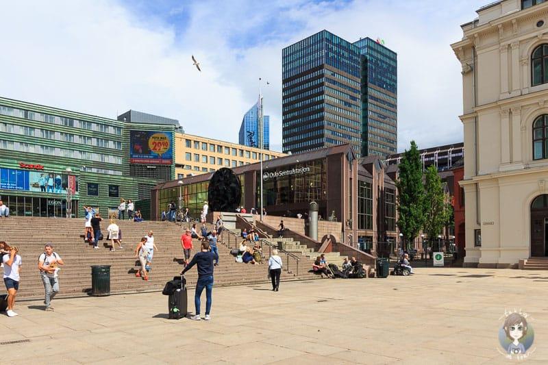Blick auf den Hauptbahnhof in Oslo