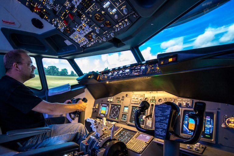 Flugsimulator in den USA <i>Foto: ©Ingo Busch</i>