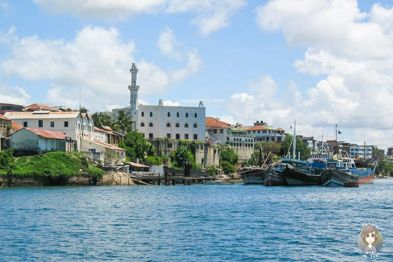 Blick auf Mombasa während unseres Kenia Urlaub