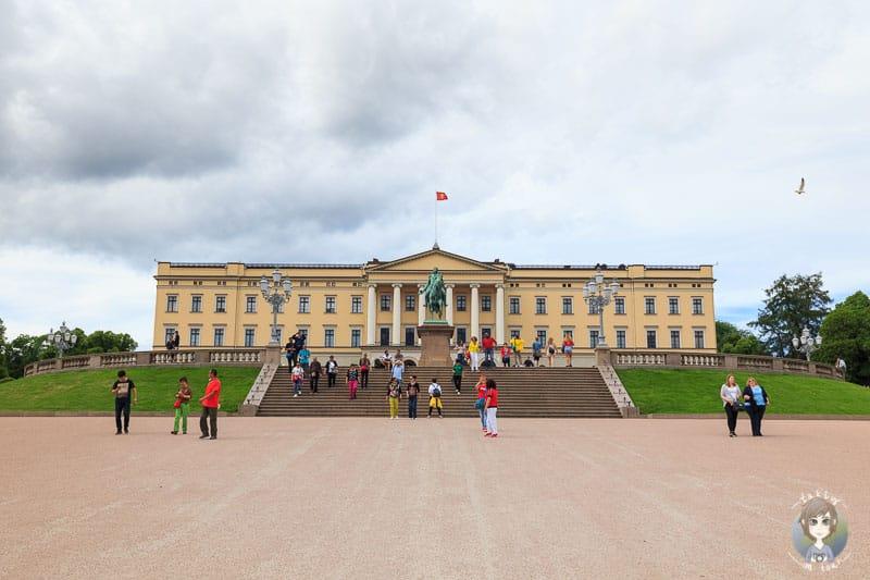 Schöner Blick auf das Schloss Oslo