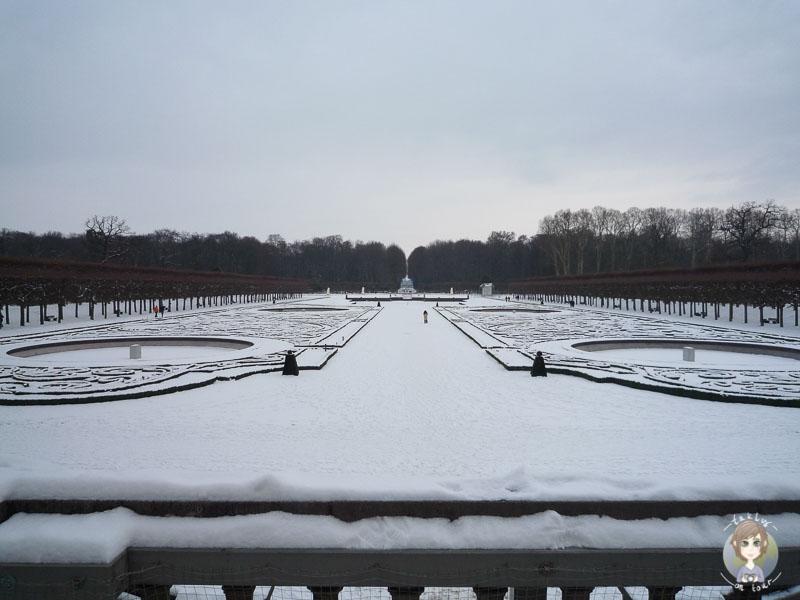 Der Schlosspark Brühl im Schnee