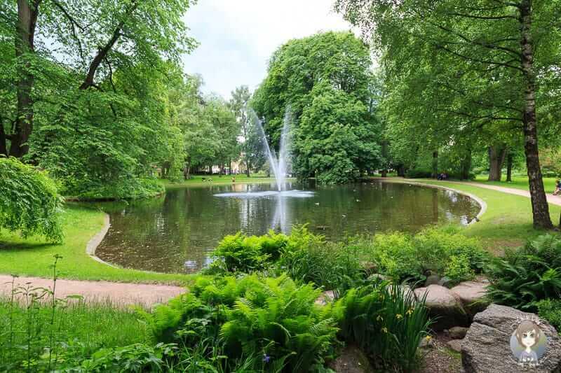 Der Schlosspark von Oslo