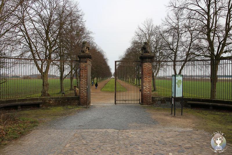 Spaziergang zum Schloss Falkenlust