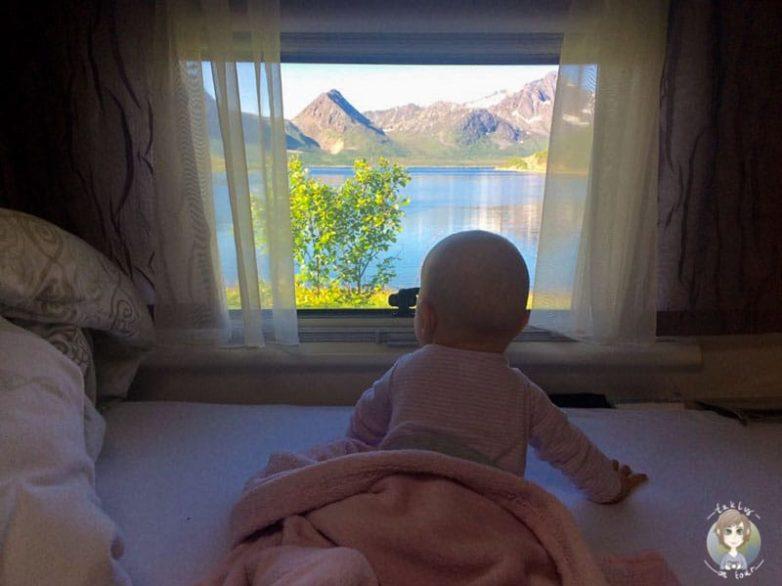 Unser Baby genießt noch ein wenig die tolle Aussicht