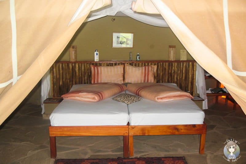 Bequemes Bett mitten im Nationalpark