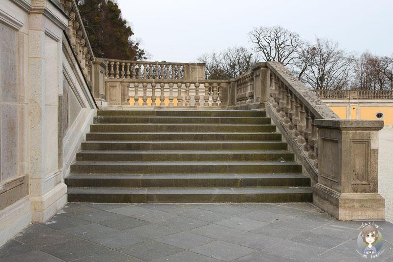 Eine der Treppen am Schloss Brühl