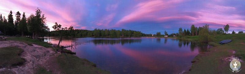 Traumhaftes Bild Mitsommer am Øvresetertjern See in Oslo