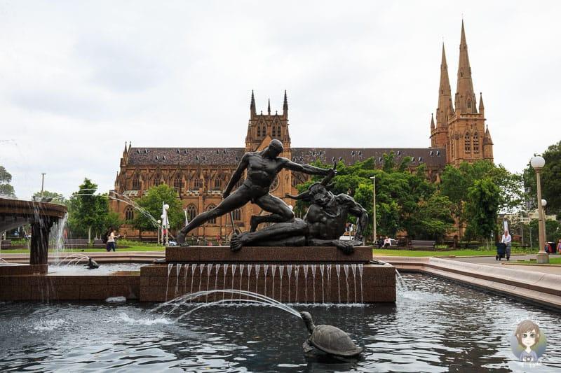 Der Archibald Brunnen im Hyde Park von Sydney