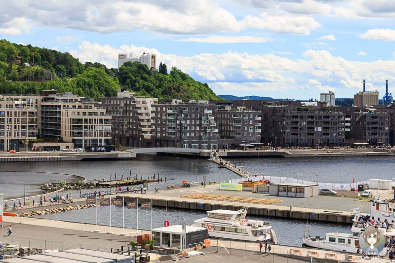 Aussicht von der Oper auf Sorenga in Oslo
