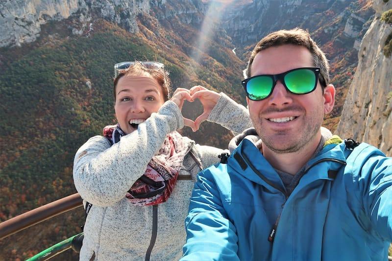 Comewithus2 auf ihrer Europareise in der Vernonschlucht in Frankreich