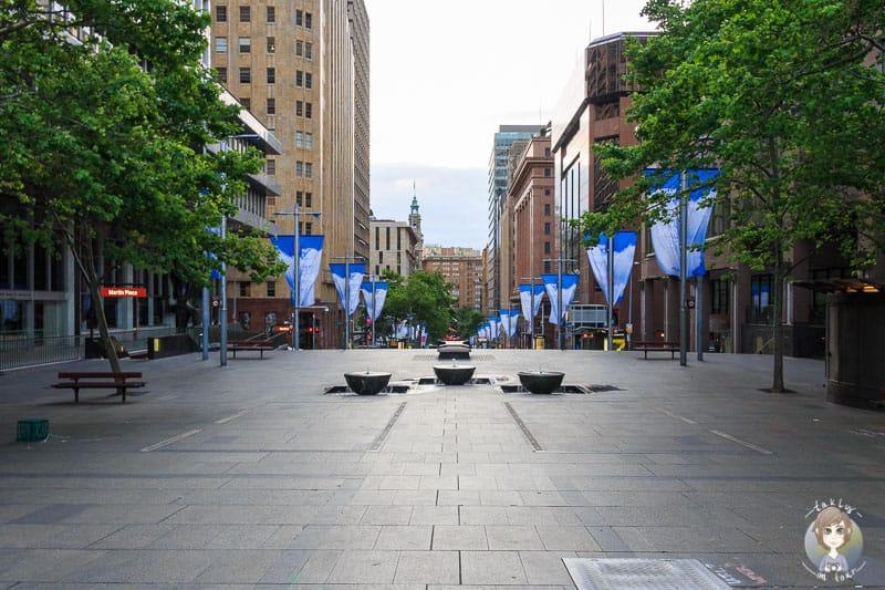 Blick auf den Martin Place in Sydney