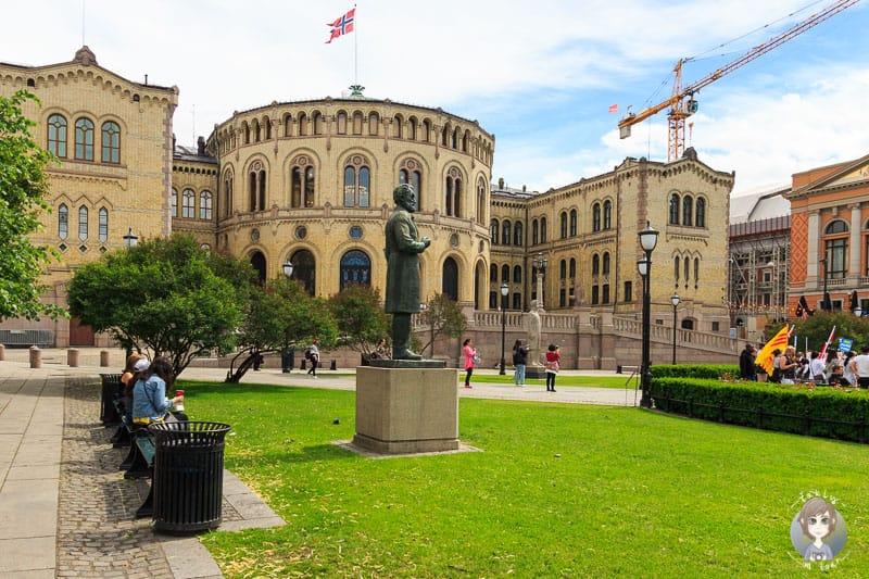 Blick auf das Parlament in Oslo