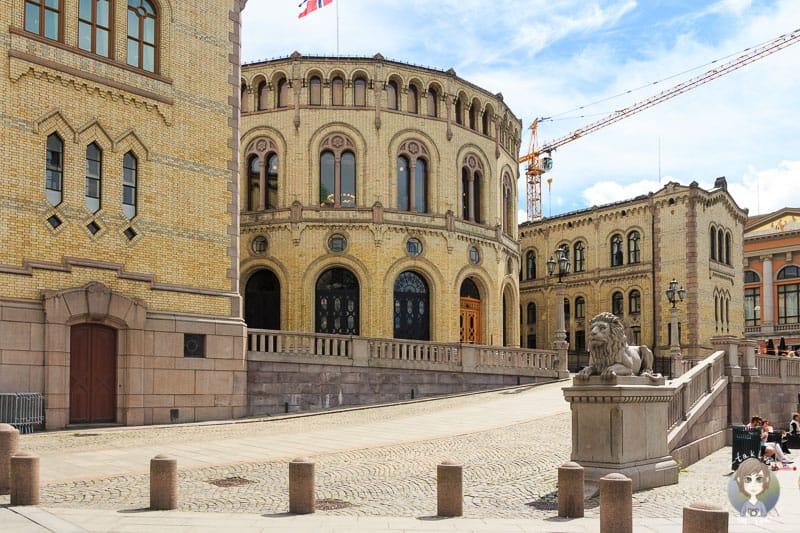 Das Parlamentsgebäude von Oslo