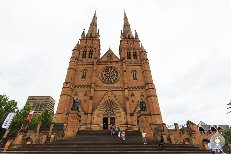 Ein Blick auf die Kathedrale von Sydney